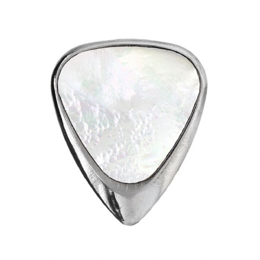 Inlay Tones Mini White Mother of Pearl 1 Guitar Pick